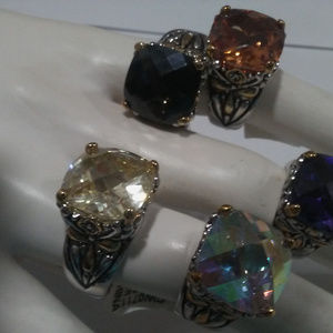 Cable Designer Ring MANY COLORS SIZES NWT